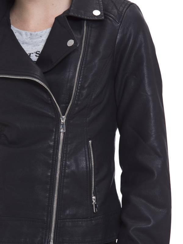 Куртка косуха женская кожаная турция - Фото 8
