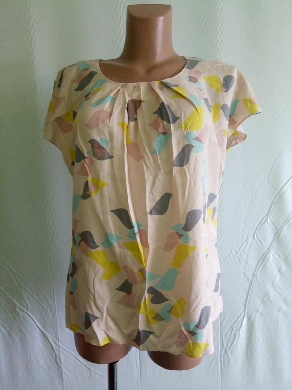 Блуза блузка нежная boden, р. 44-46 .  вискоза+шелк