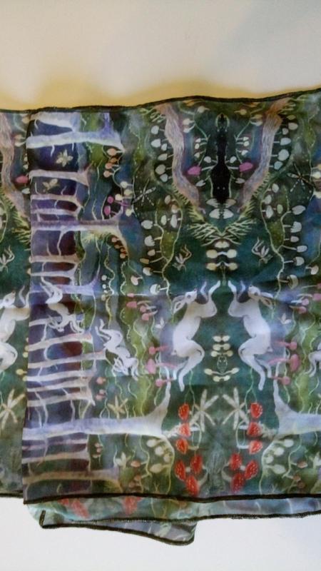 Шарф шарфик шифоновый kate collins.