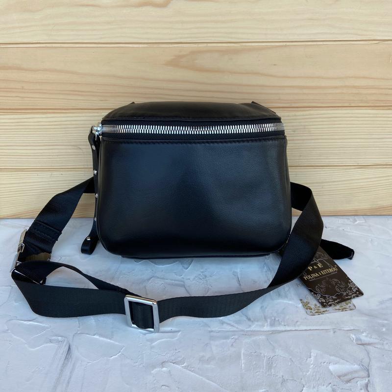 Женская кожаная сумка polina & eiterou через плечо поясная - Фото 4