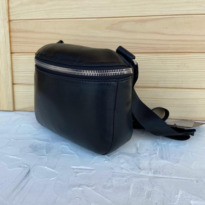 Женская кожаная сумка polina & eiterou через плечо поясная - Фото 5
