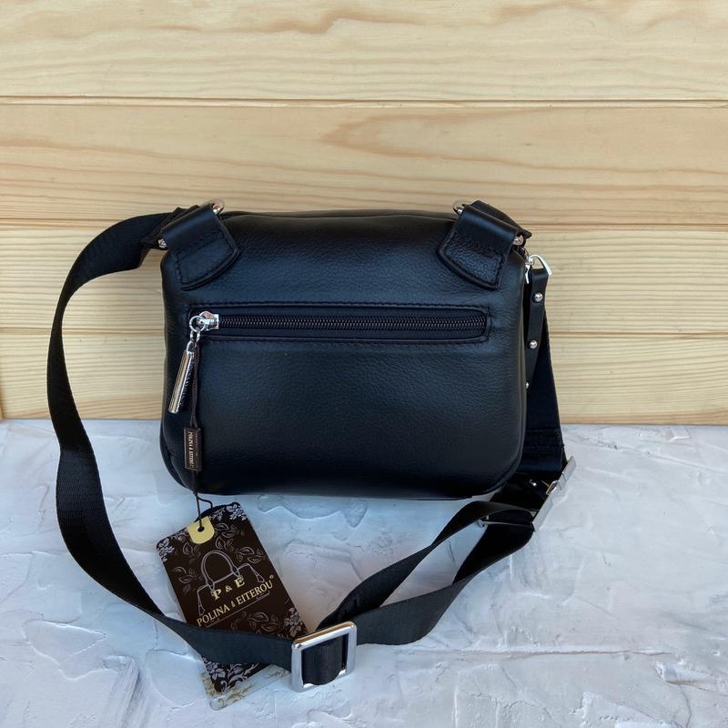 Женская кожаная сумка polina & eiterou через плечо поясная - Фото 6