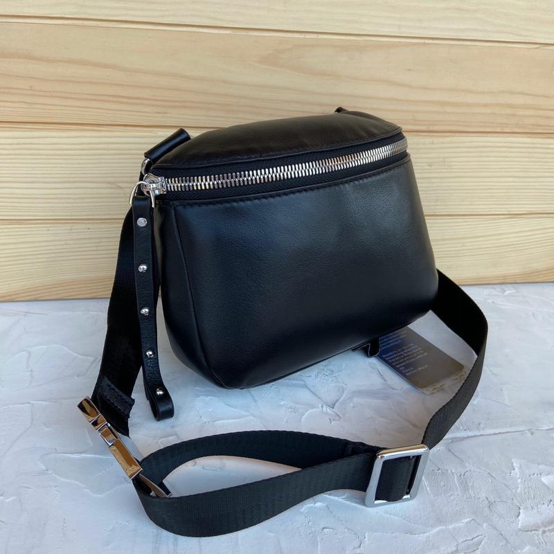 Женская кожаная сумка polina & eiterou через плечо поясная - Фото 7