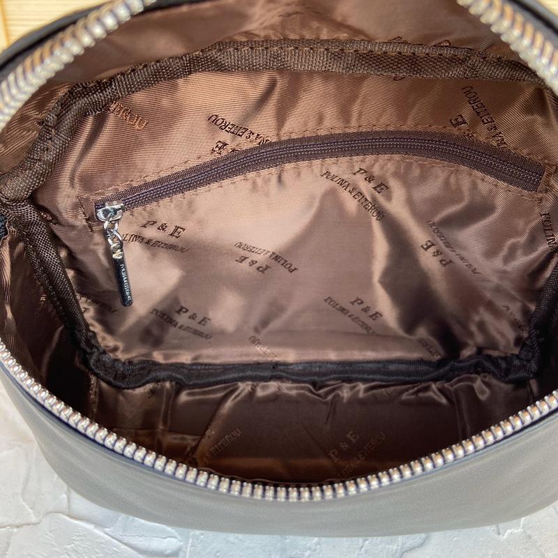 Женская кожаная сумка polina & eiterou через плечо поясная - Фото 8