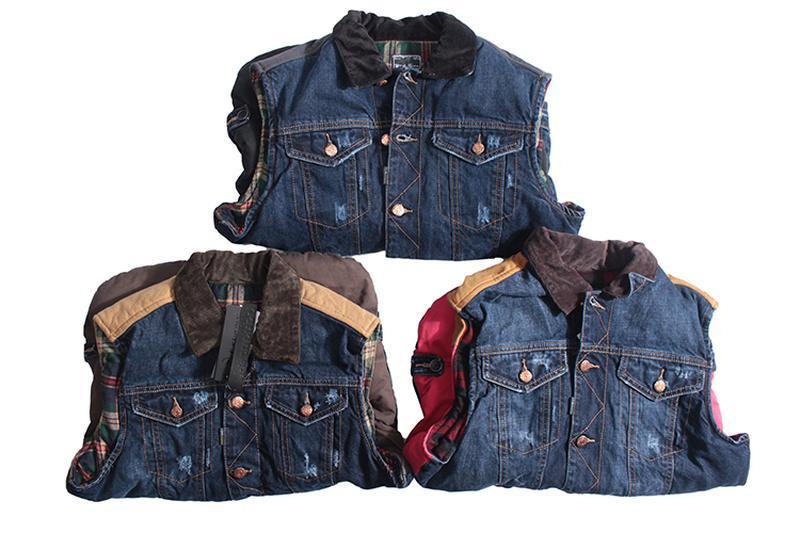 Мужская джинсовая жилетка - Фото 2