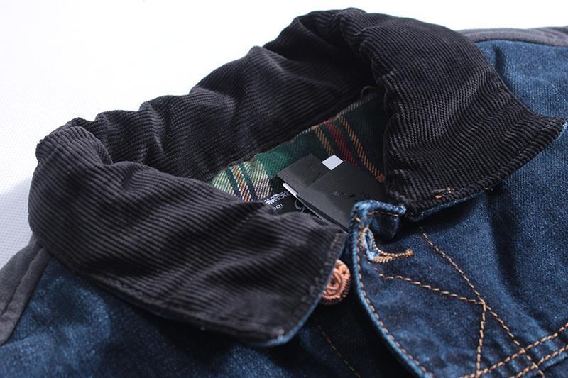 Мужская джинсовая жилетка - Фото 4