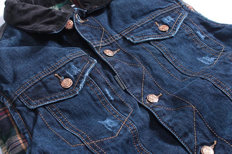 Мужская джинсовая жилетка - Фото 5