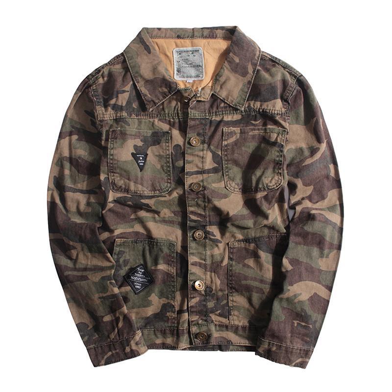 Мужская джинсовая куртка хаки