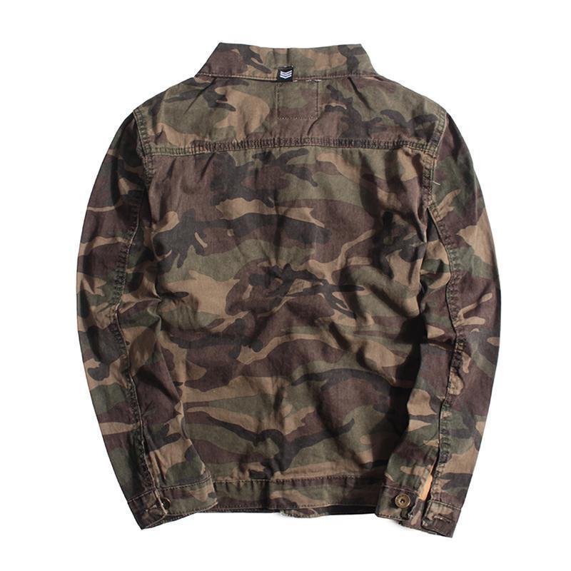 Мужская джинсовая куртка хаки - Фото 2