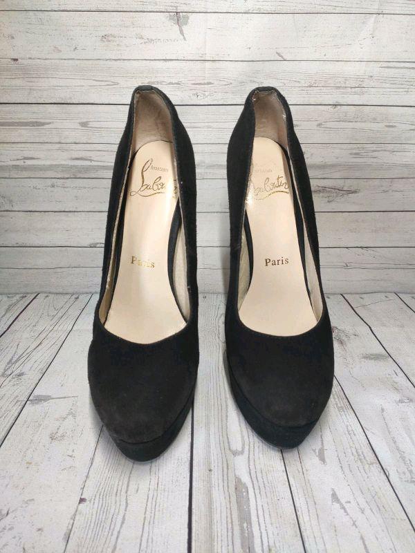 Замшевые туфли Christian Louboutin - Фото 3