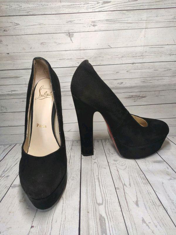 Замшевые туфли Christian Louboutin - Фото 5