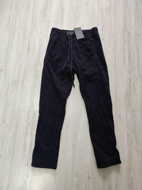 ❤️sale к 8 марта !!❤️  темно синие повседневные мужские брюки