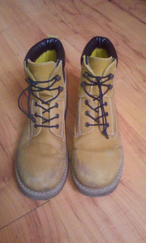 Ботинки демисезонные кожаные 32-33р.