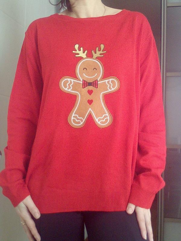 Рождественский, новогодний свитер, свитшот, джемпер м-л