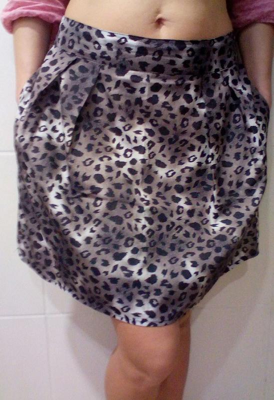 Воздушная юбка с карманами
