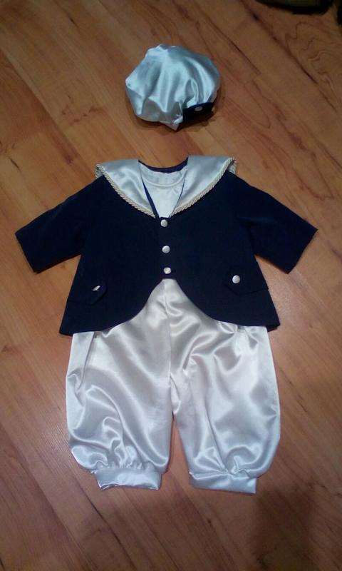 Красивый костюм моряка на 6-12 мес.