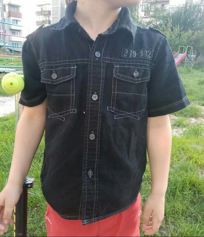 Лёновая рубашка летняя на 4-5 лет