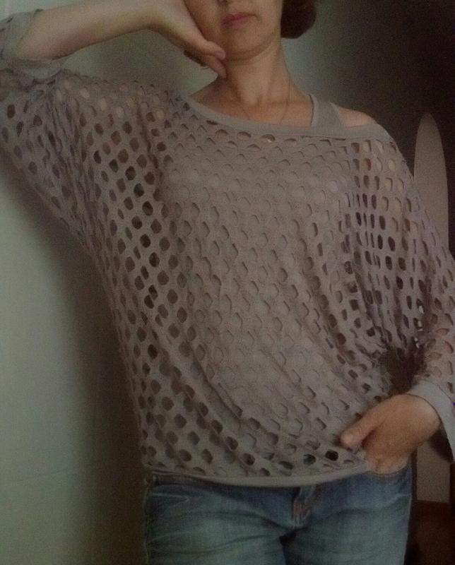 Модная блузка с маечкой с-м