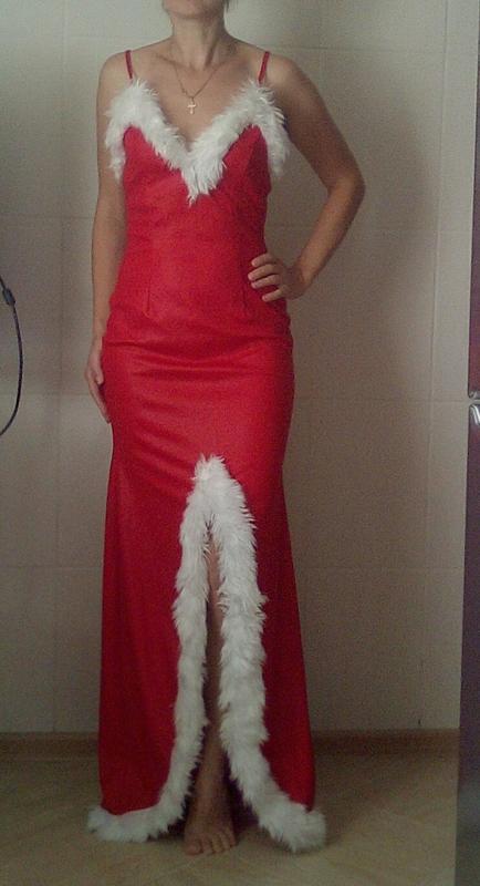 Классное длинное платье новогоднее