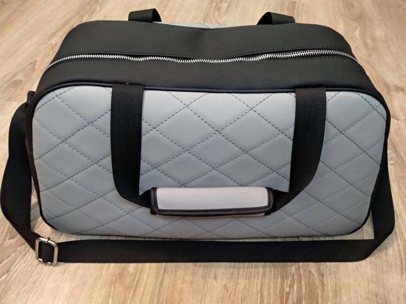 Серая сумка 👜 ручной работы shopper - Фото 3