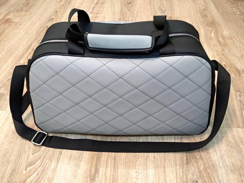 Серая сумка 👜 ручной работы shopper - Фото 4