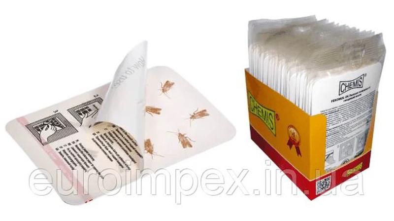 Пастка для харчової молі клейка Feromol (2 шт) «Chemis»