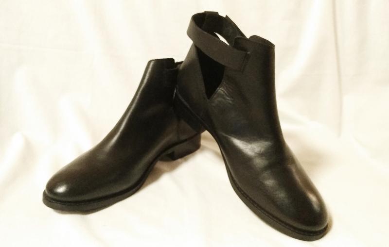 Ботинки женские, демисезонные, кожаные, черные office london