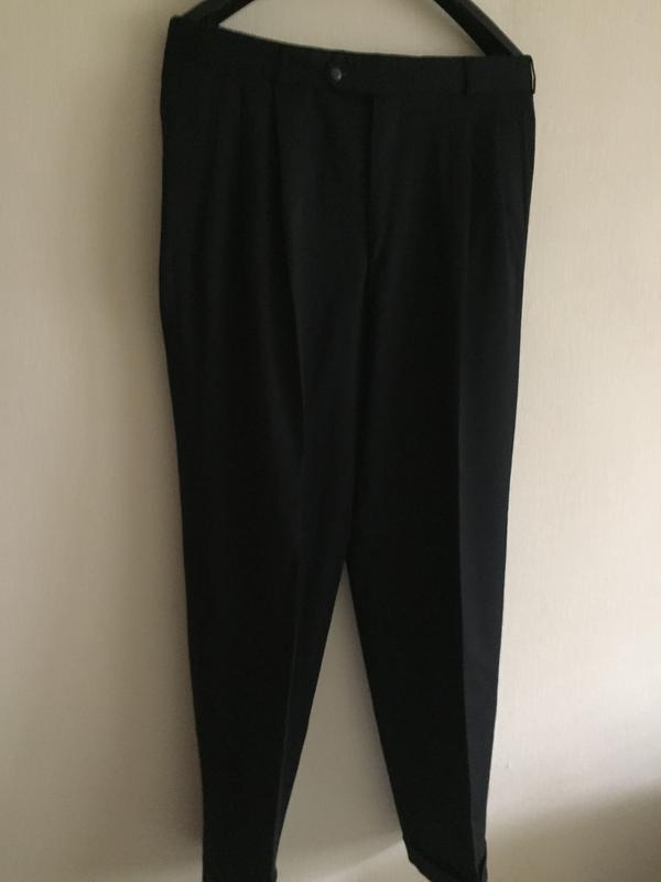 Мужские классические черные брюки 52 р.
