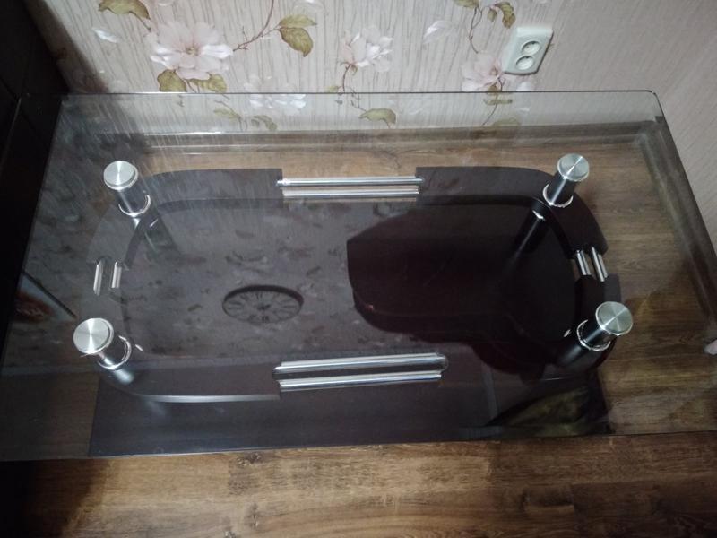 Журнальный стол стеклянный - Фото 4