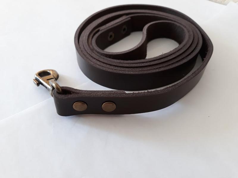 Кожаный поводок для собак крупных пород 1.90 м* 23 мм Jack&Jack