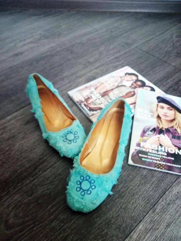 Балетки туфли бирюзовые