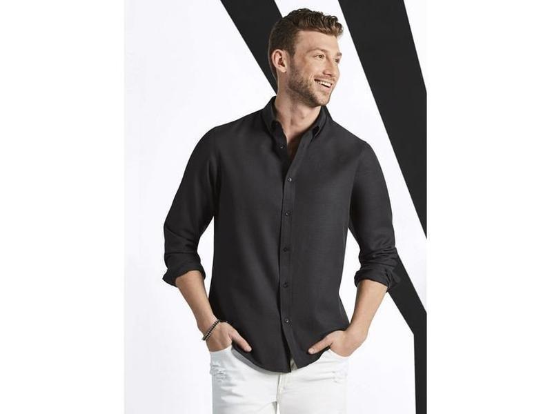 Стильная мужская структурная рубашка livergy германия