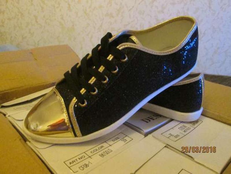 Лоферы кеды туфли со шнурками (реальные фото), р. 36-37-38 - Фото 4