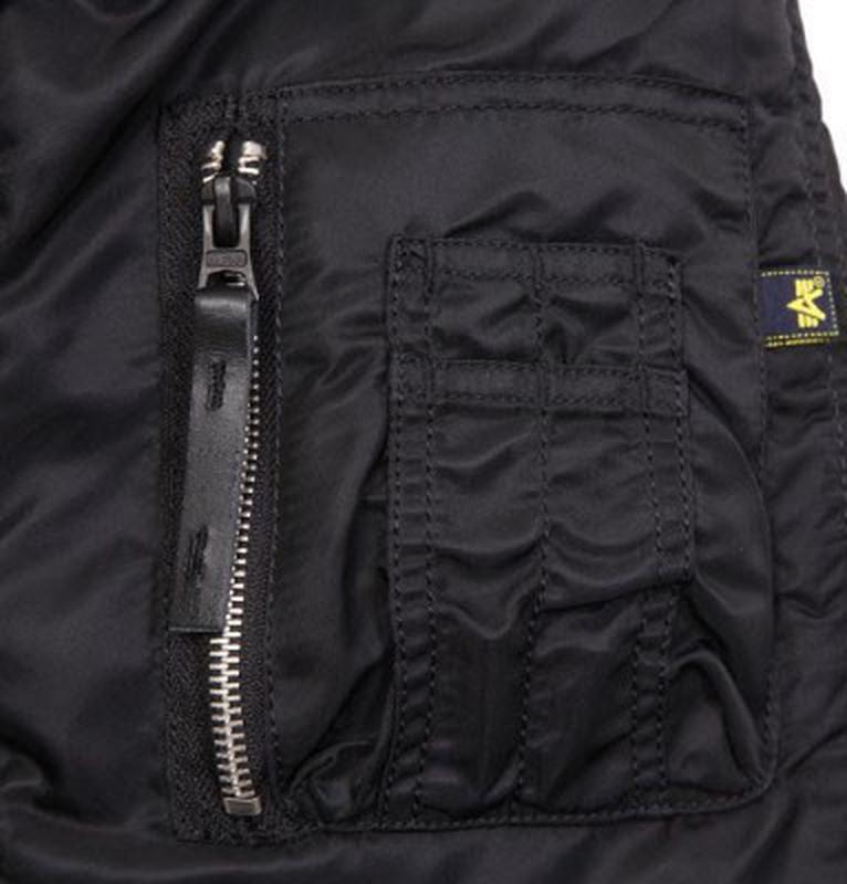 Куртка аляска Slim Fit N-3B Parka Alpha Industries (чорна) - Фото 2