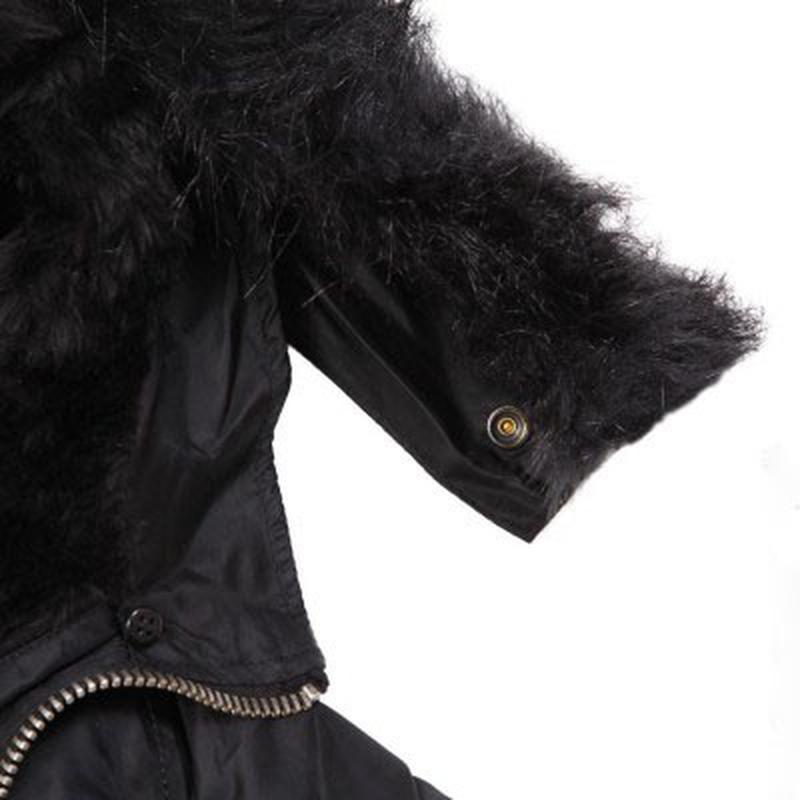 Куртка аляска Slim Fit N-3B Parka Alpha Industries (чорна) - Фото 3