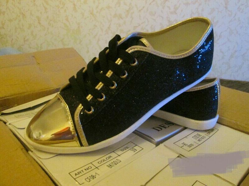 Блестящие черные лоферы, кеды, туфли - Фото 4