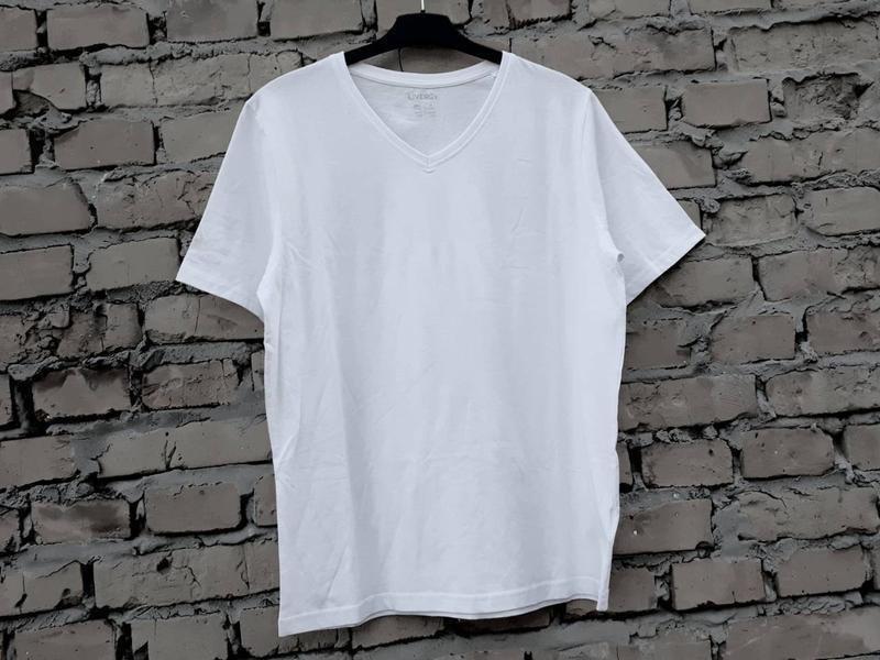 Белая футболка livergy германия, 100% хлопок