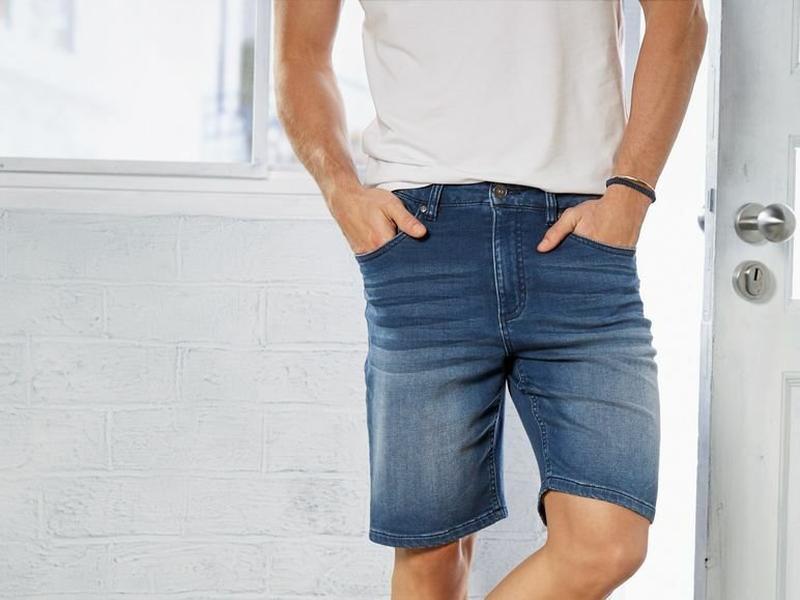 Мужские джинсовые шорты бермуды livergy германия - Фото 2
