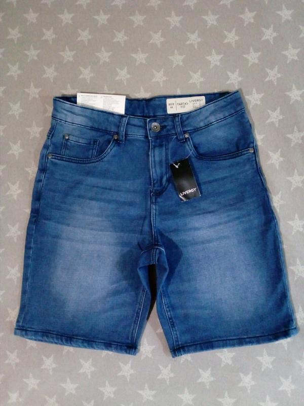 Мужские джинсовые шорты бермуды livergy германия - Фото 3