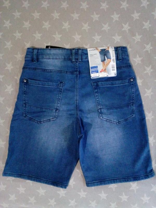 Мужские джинсовые шорты бермуды livergy германия - Фото 4