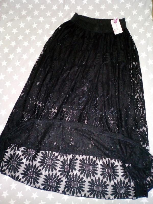 Шикарная юбка макси в пол из кружева или платье бандо