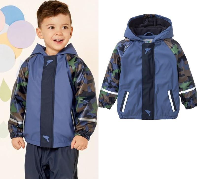 Детский дождевик на флисе, куртка грязепруф lupilu германия