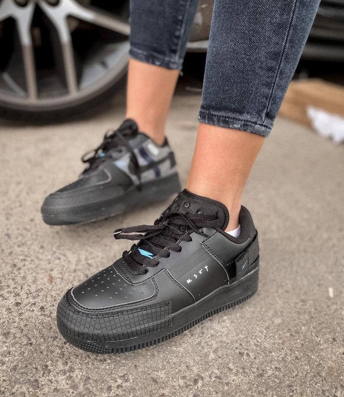 Мужские кроссовки nike air force 1 black 😍 - Фото 2