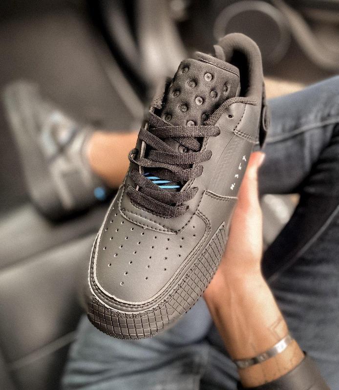 Мужские кроссовки nike air force 1 black 😍 - Фото 5