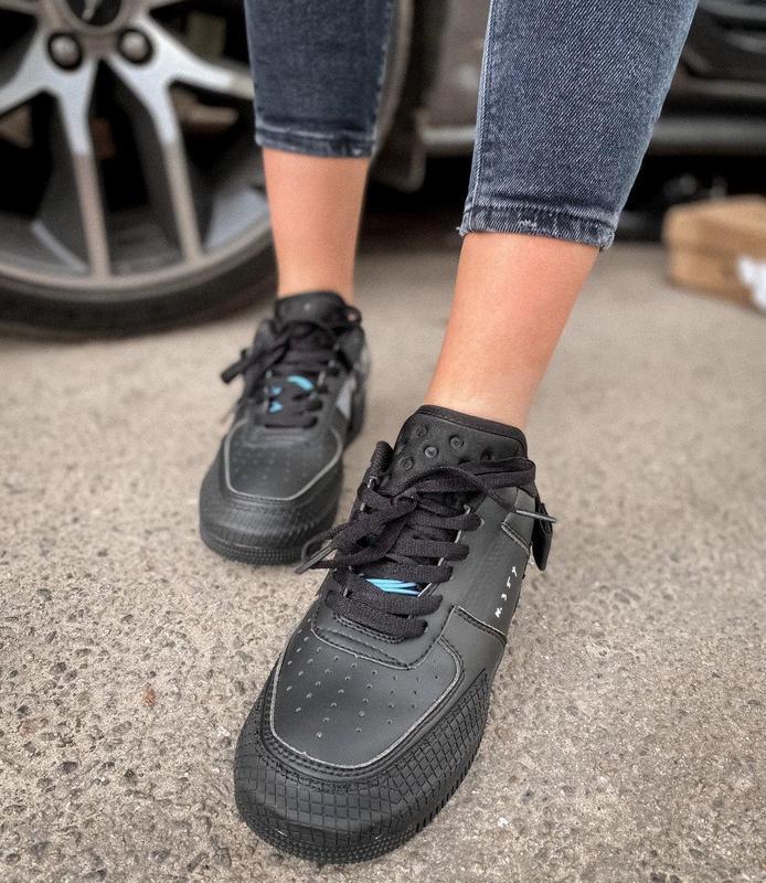 Мужские кроссовки nike air force 1 black 😍 - Фото 6