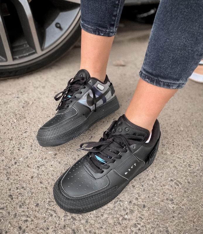 Мужские кроссовки nike air force 1 black 😍 - Фото 7