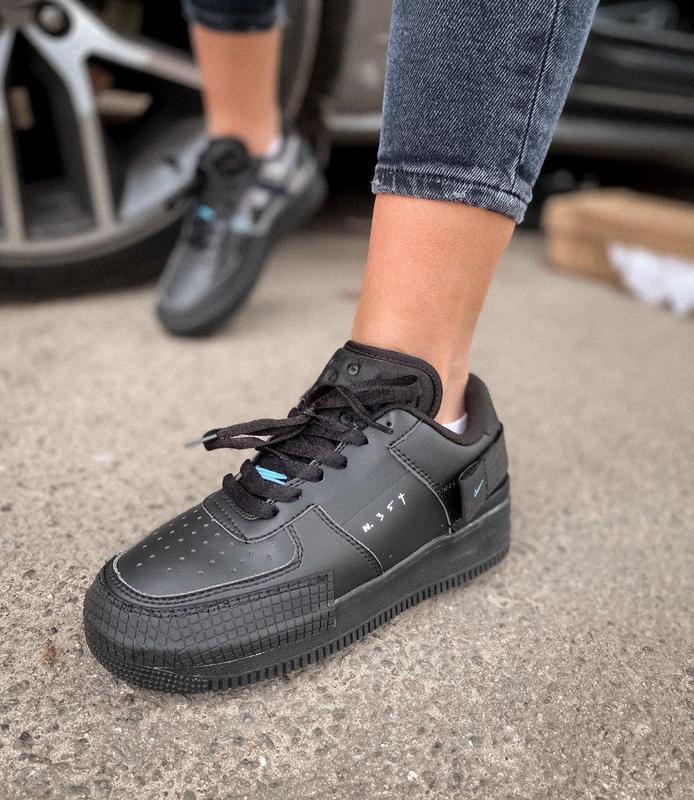 Мужские кроссовки nike air force 1 black 😍 - Фото 8
