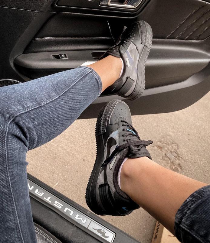 Мужские кроссовки nike air force 1 black 😍 - Фото 9