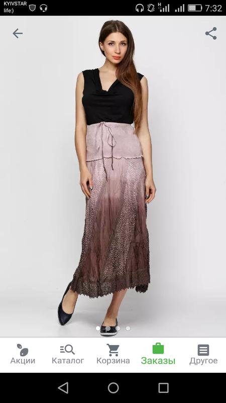 Летняя юбка на резинке