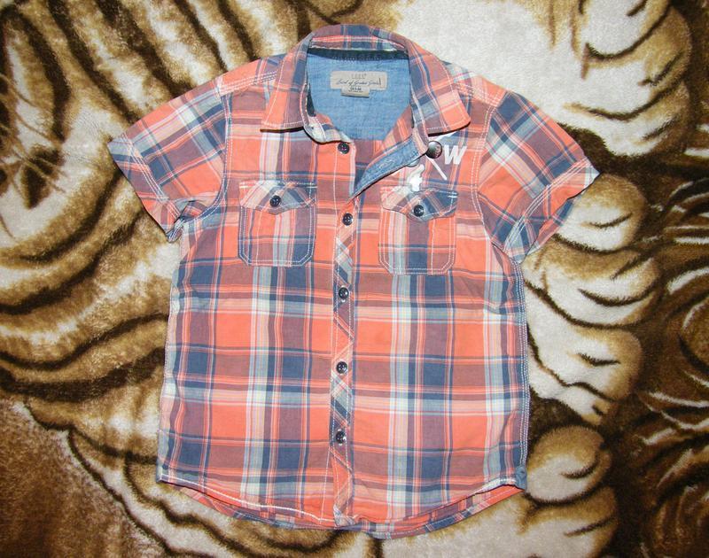 Стильная рубашка от h&m мальчику 5-6 лет